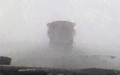 грузовой автомобиль, дорога, буран, снег, метель