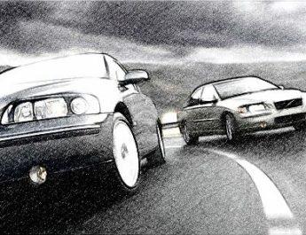 обгон, дорога, автомобиль, скорость