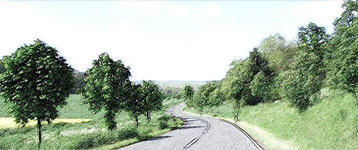 шоссе, автомобиль, дорога, обгон