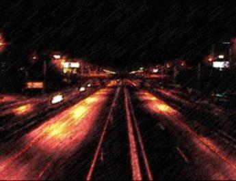 ночь, дорога, автомобиль, плохая видимость
