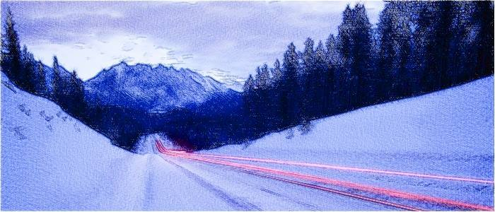зимняя дорога, дистанция, торможение двигателем, выбор скорости