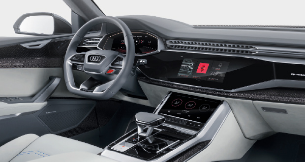 передняя панель, руль, дисплей, сенсорное управление