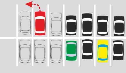 стоянка, парковка, выезд с парковки