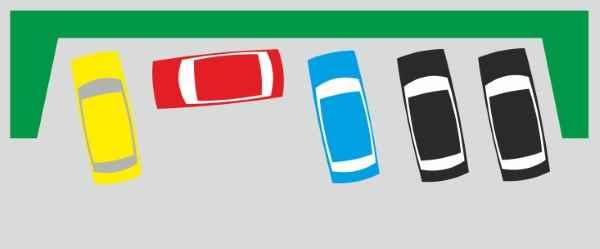 правильная парковка, автомобиль на стоянке, выезд со стоянки