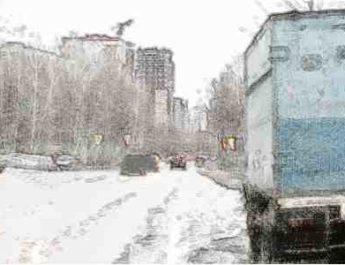 неправильная парковка, грузовик, обзор