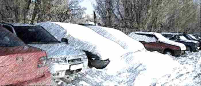 парковка, парковочное место, очистка парковки от снега, парковка снег
