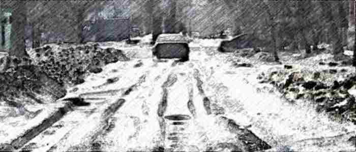 ледяная колея, ледовая колея, выезд из колеи, выезд из ледовой колеи