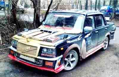 колхоз-тюнинг, самодельный тюнинг, украшение автомобиля