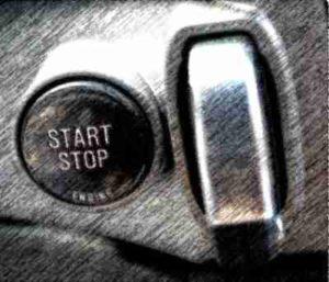 кнопка запуска двигателя, запуск кнопкой, кнопка запуск двигателя