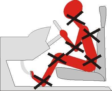 посадка за рулем, неправильное положение водителя, водитель устает
